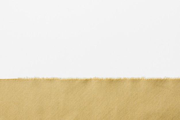 Bovenaanzicht gouden vezel met kopie ruimte