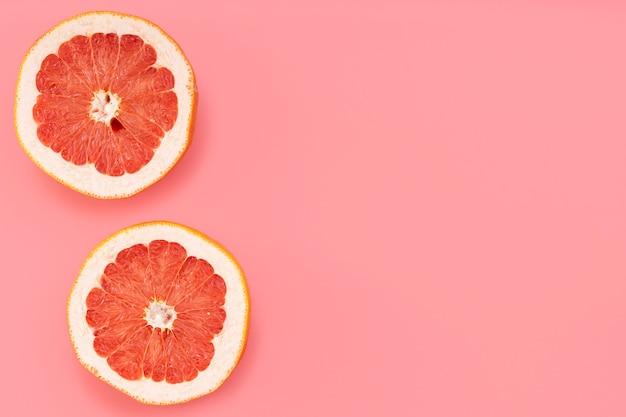 Bovenaanzicht grapefruit frame