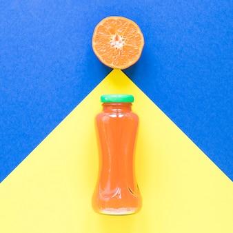Bovenaanzicht grapefruit smoothie