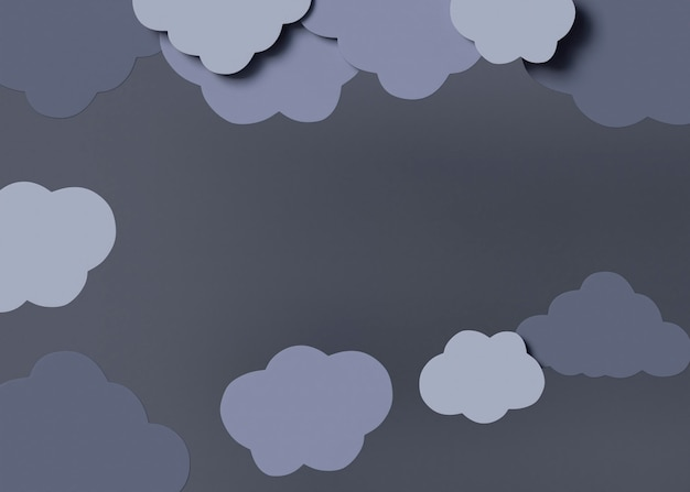 Bovenaanzicht grijze wolken arrangement