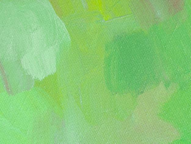 Bovenaanzicht groen gekleurd schilderij