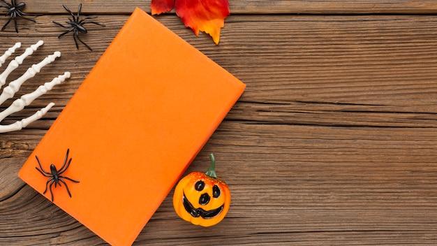 Bovenaanzicht halloween concept met kopie ruimte
