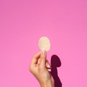 Bovenaanzicht hand weergegeven: chips
