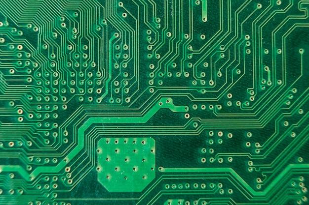 Bovenaanzicht hardware technische achtergrond