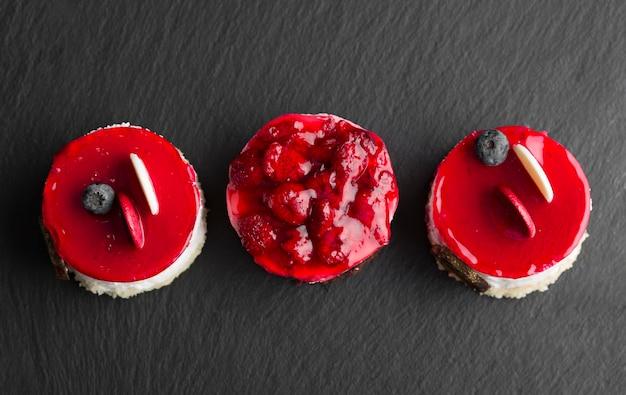 Bovenaanzicht heerlijke fruitcake
