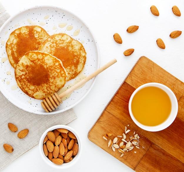 Bovenaanzicht heerlijke pannenkoeken