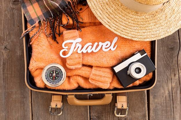 Bovenaanzicht herfst reissamenstelling