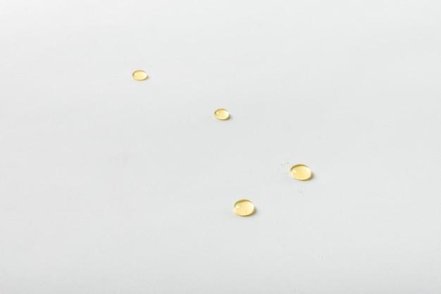 Bovenaanzicht honing druppels Gratis Foto