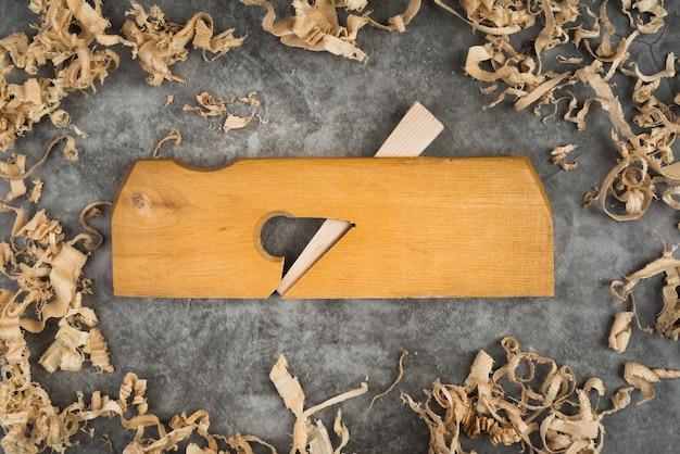 Bovenaanzicht houtbewerking tools