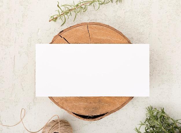 Bovenaanzicht houten bord met kopie ruimte