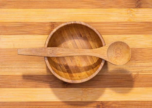 Bovenaanzicht houten keukengerei