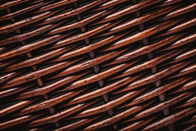 Bovenaanzicht houten mand behang