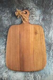 Bovenaanzicht houten snijplank