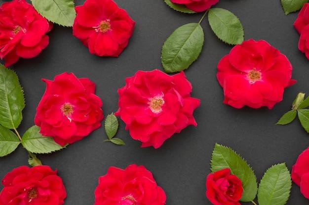 Bovenaanzicht ijsberg rozen arrangement