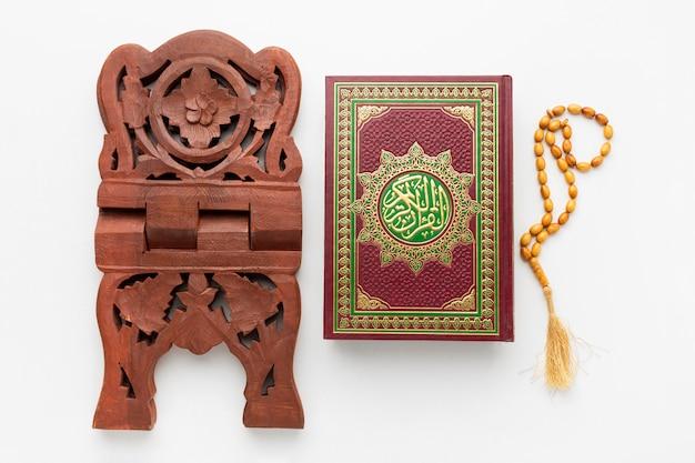Bovenaanzicht islamitische nieuwjaar concept