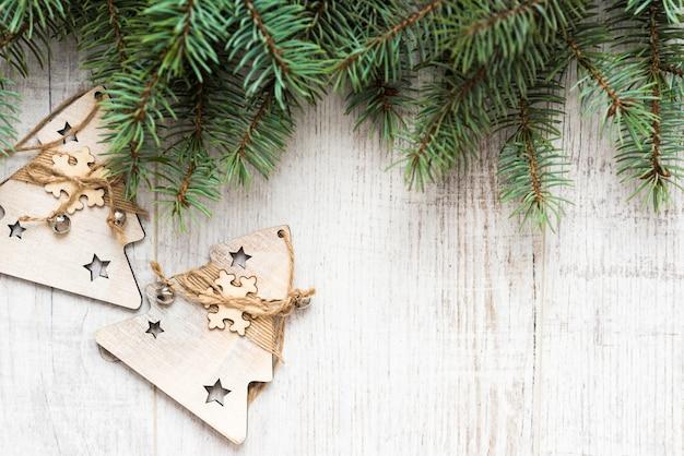 Bovenaanzicht kerst fir takken