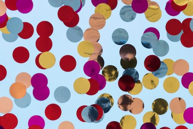 Bovenaanzicht kleurrijke feestdecoraties