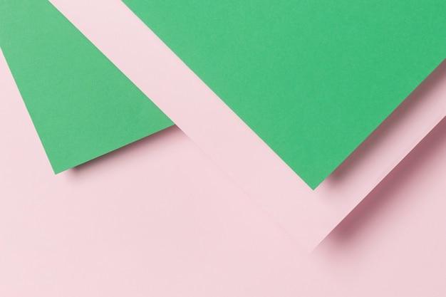 Bovenaanzicht kleurrijke papieren kast