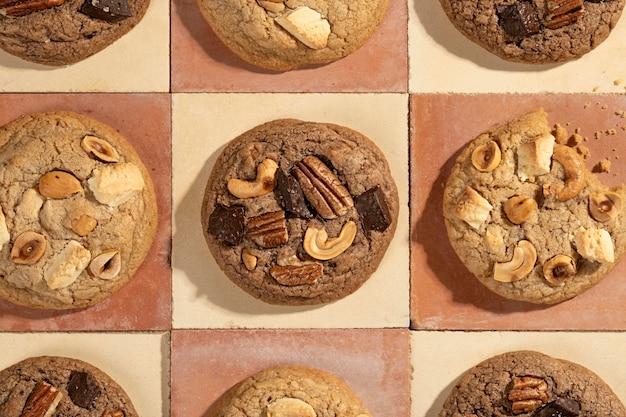 Bovenaanzicht koekjes assortiment