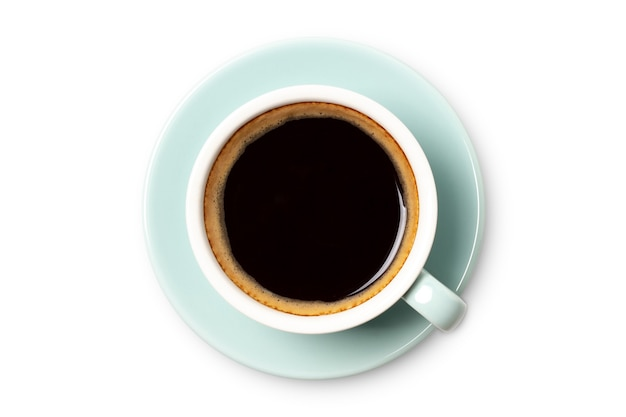Bovenaanzicht koffiekopje