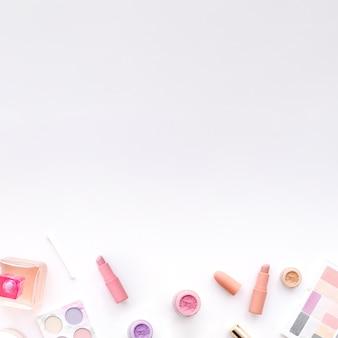 Bovenaanzicht make-up