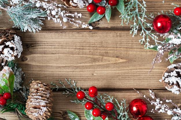 Bovenaanzicht merry christmas-samenstelling