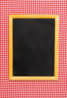Bovenaanzicht minimalistisch frame mock-up