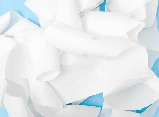 Bovenaanzicht motolite toiletpapier