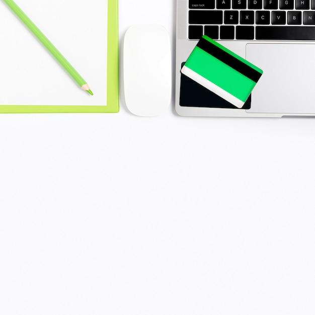 Bovenaanzicht online winkelen concept