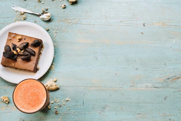 Bovenaanzicht ontbijt kruimels