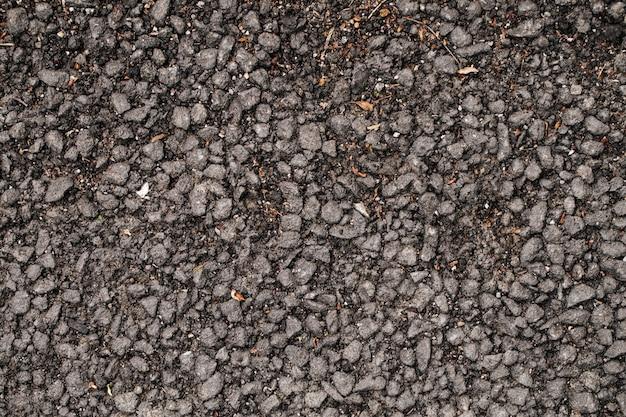 Bovenaanzicht op natuurlijke aarde met stenen