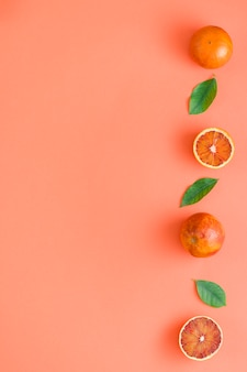 Bovenaanzicht oranje lijn