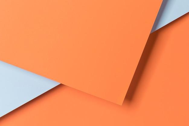 Bovenaanzicht papieren kast