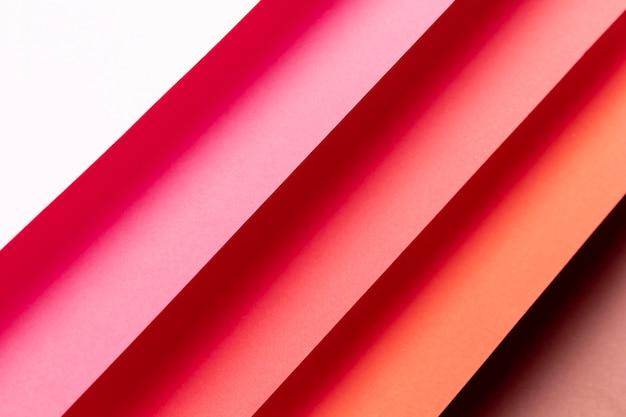 Bovenaanzicht patroon gemaakt met tinten rood