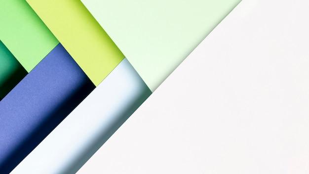 Bovenaanzicht patroon gemaakt van koele kleuren tinten