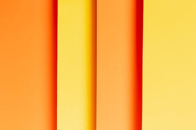 Bovenaanzicht patroon gemaakt van verschillende tinten oranje