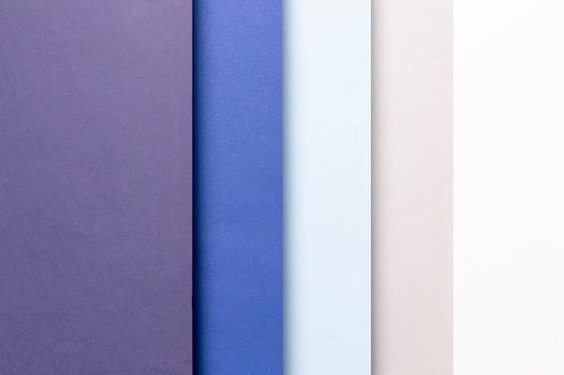 Bovenaanzicht patroon met blauwtinten