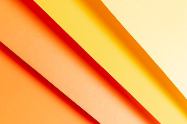 Bovenaanzicht patroon van warme kleuren tinten