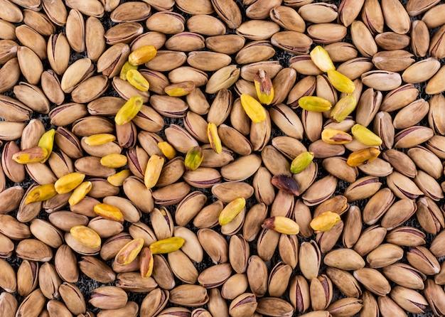 Bovenaanzicht pistachios textuur patroon horizontaal