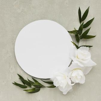 Bovenaanzicht plaat arrangement voor bruiloft