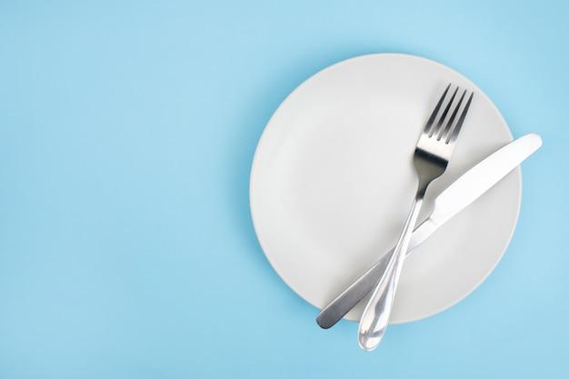 Bovenaanzicht plaat met een vork