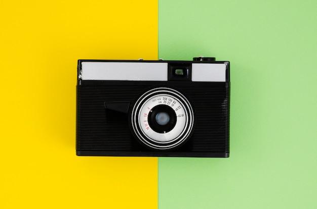 Bovenaanzicht professioneel camera-apparaat