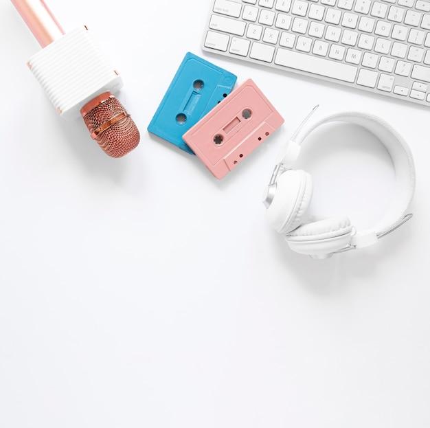 Bovenaanzicht radio-items arrangement