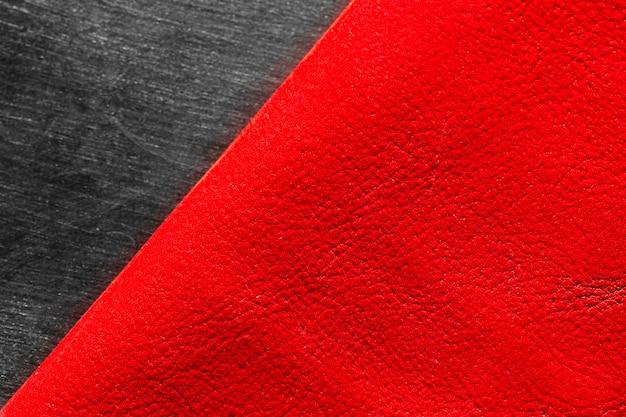 Bovenaanzicht rode lederen portemonnee