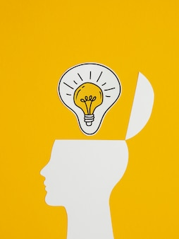 Bovenaanzicht samenstelling van optimisme conceptelementen