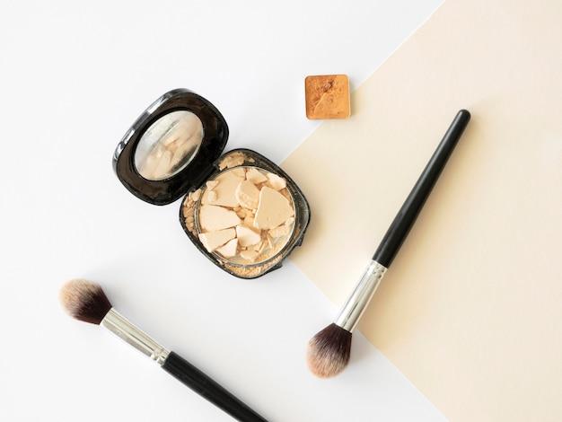 Bovenaanzicht schoonheid cosmetische producten