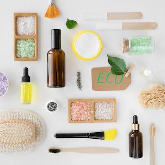 Bovenaanzicht spa-behandeling concept