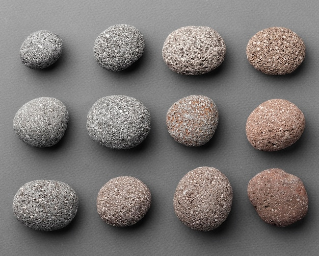 Bovenaanzicht stenen collectie