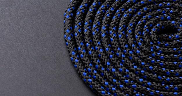 Bovenaanzicht touw textuur assortiment close-up