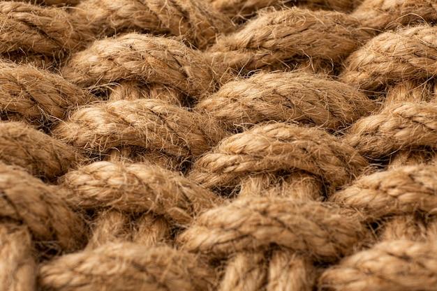 Bovenaanzicht touw textuur samenstelling close-up